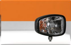 Heavy duty E approved headlamp