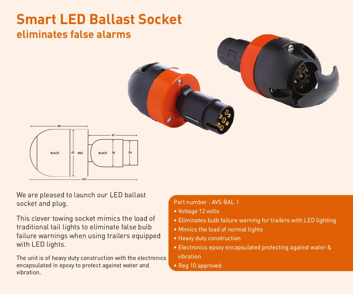 Smart LED ballast socket AVS-BAL1