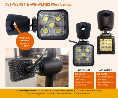 AVS-WLMB1 AVS-WLMB2 Work Lamps