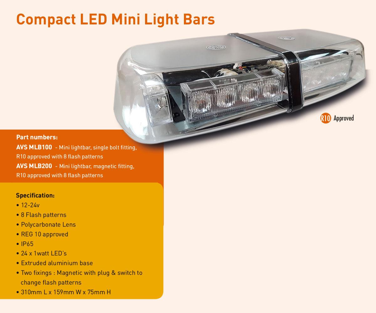 AVS-MBL100 AVS-MLB200 magnetic mini LED ightbars