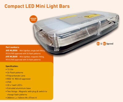 Compact Mini light bar MLB500 MLB600