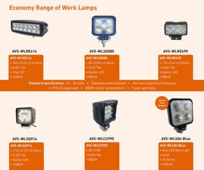 Economy Work Lamps