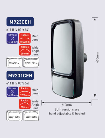 M923CEH M9231CEH powered mirror