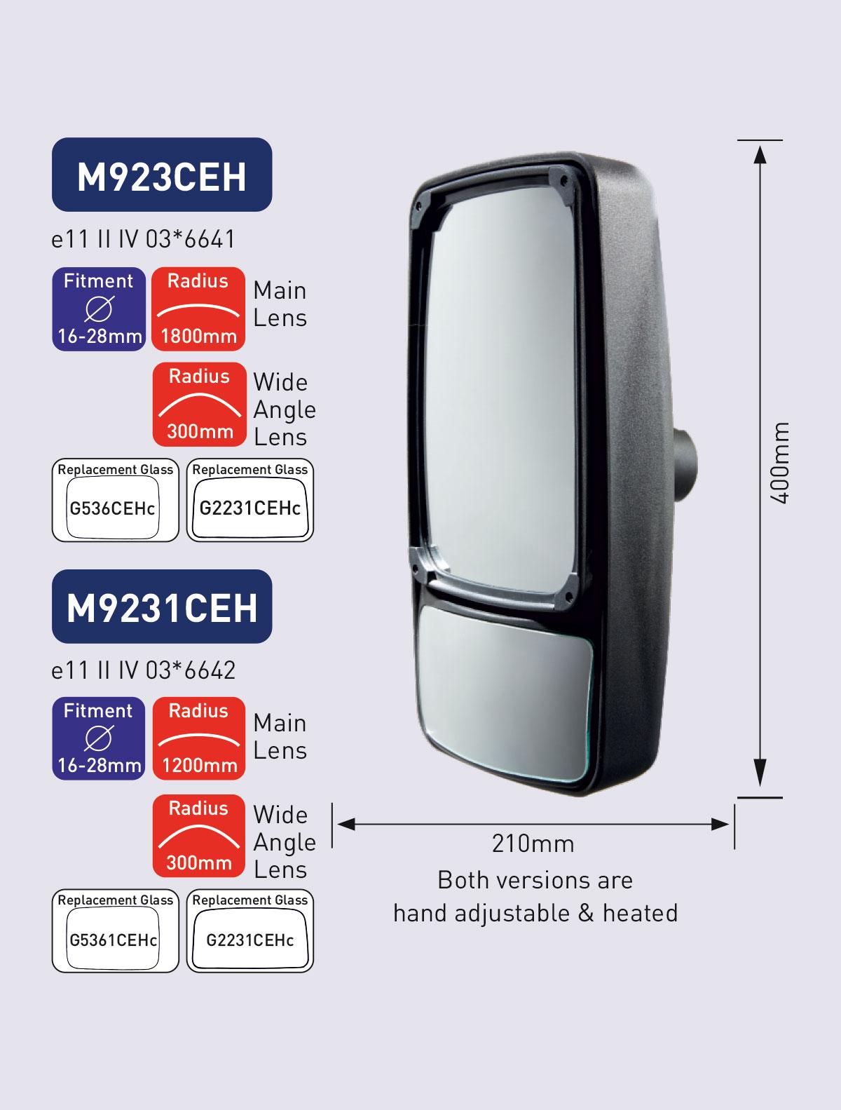 M923CEH M9231CEH powered mirror