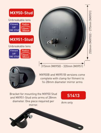 MX950-STUD-MX951-STUD