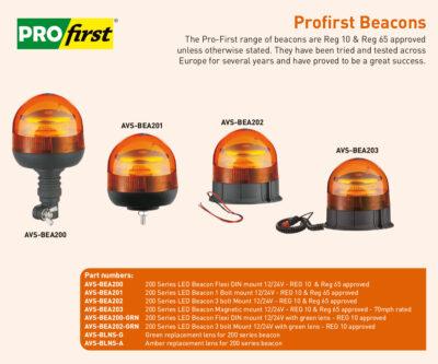 AVS-BEA200 AVS-BEA201 AVS-BEA202 AVS-BEA203 Profirst beacons