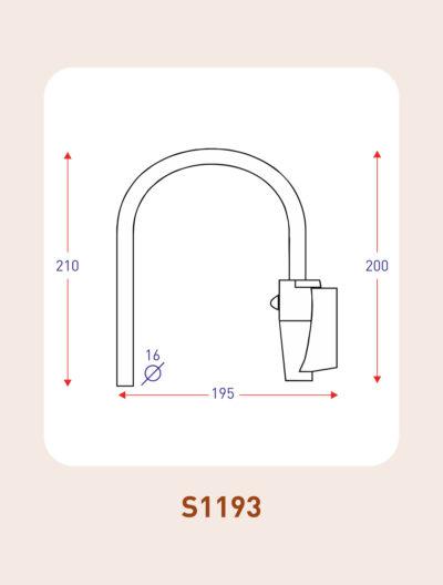 S1193 mirror arm