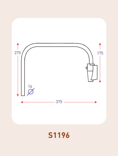 S1196 commercial vehicle mirror arm