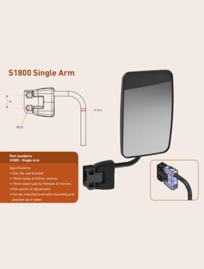 S1800 Single Mirror Arm