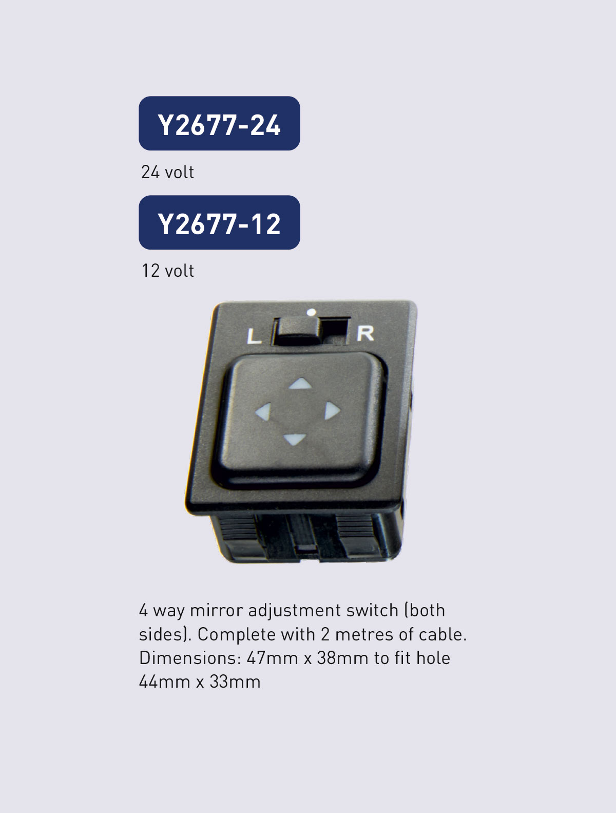 Y2677 power button